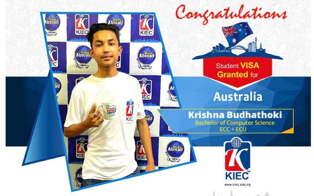 Krishna Budhathoki | Australia Study Visa Granted