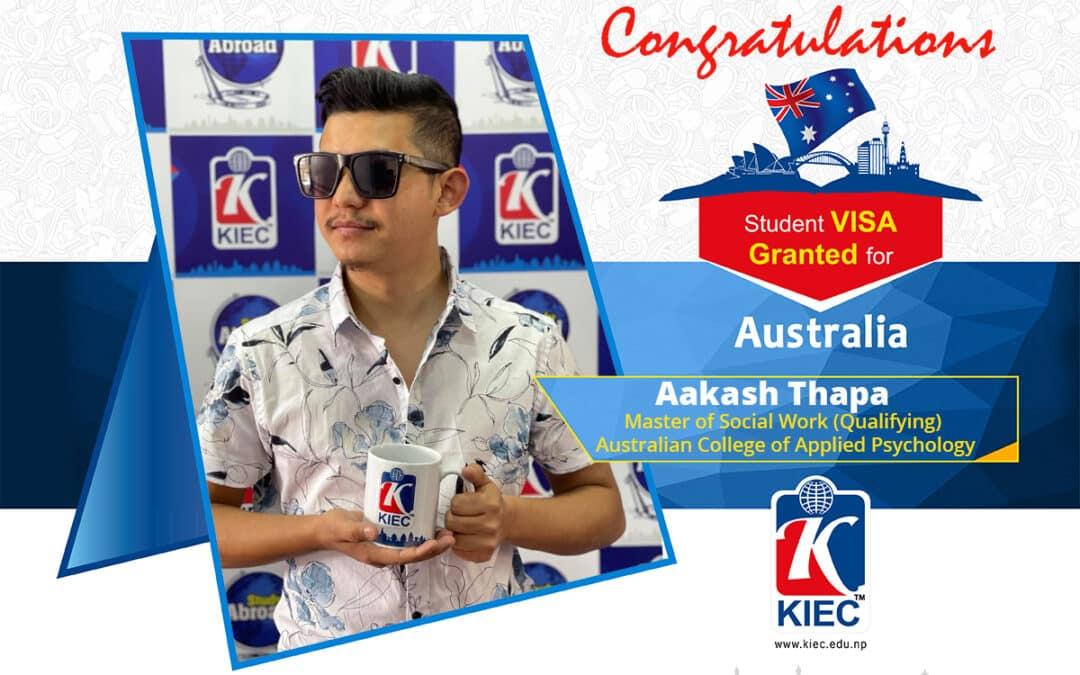 Aakash Thapa | Australia Study Visa Granted
