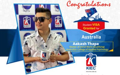 Aakash Thapa   Australia Study Visa Granted