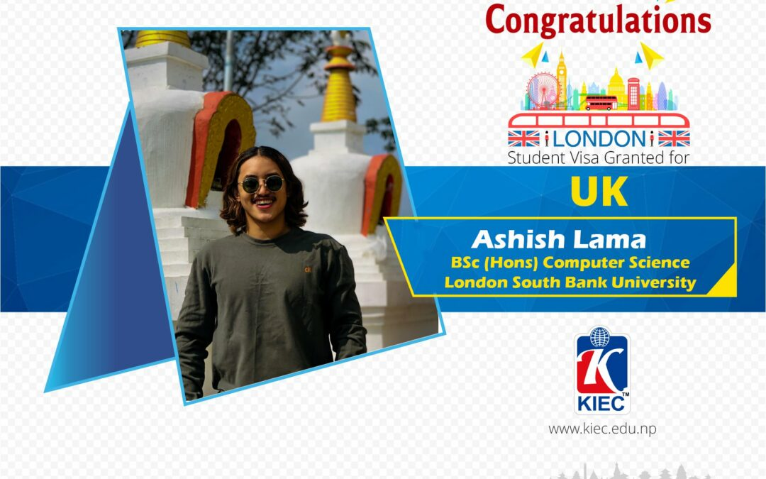 Ashish Lama | UK Study Visa Granted