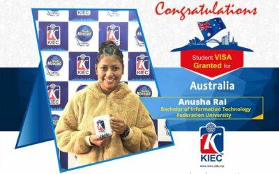Anusha Rai   Australia Study Visa Granted
