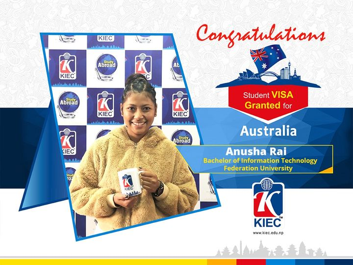 Anusha Rai | Australia Study Visa Granted