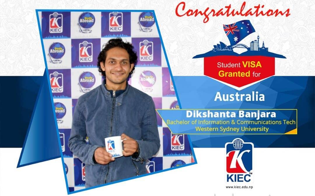 Dikshanta Banjara | Australia Study Visa Granted