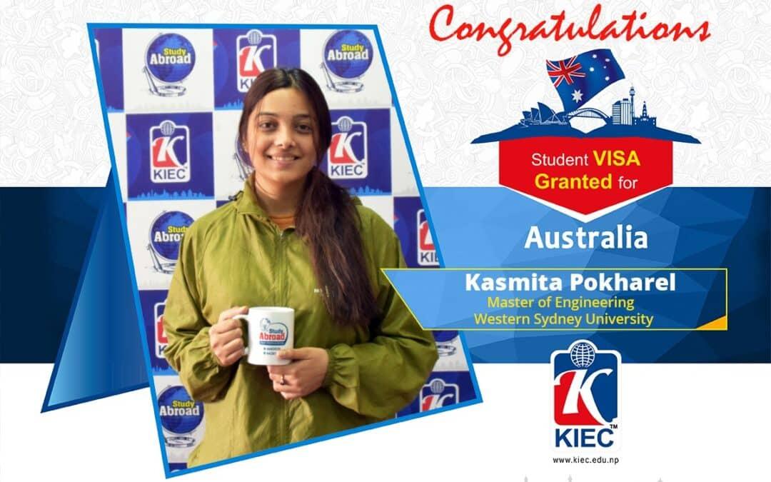 Kasmita Pokharel | Australia Study Visa Granted