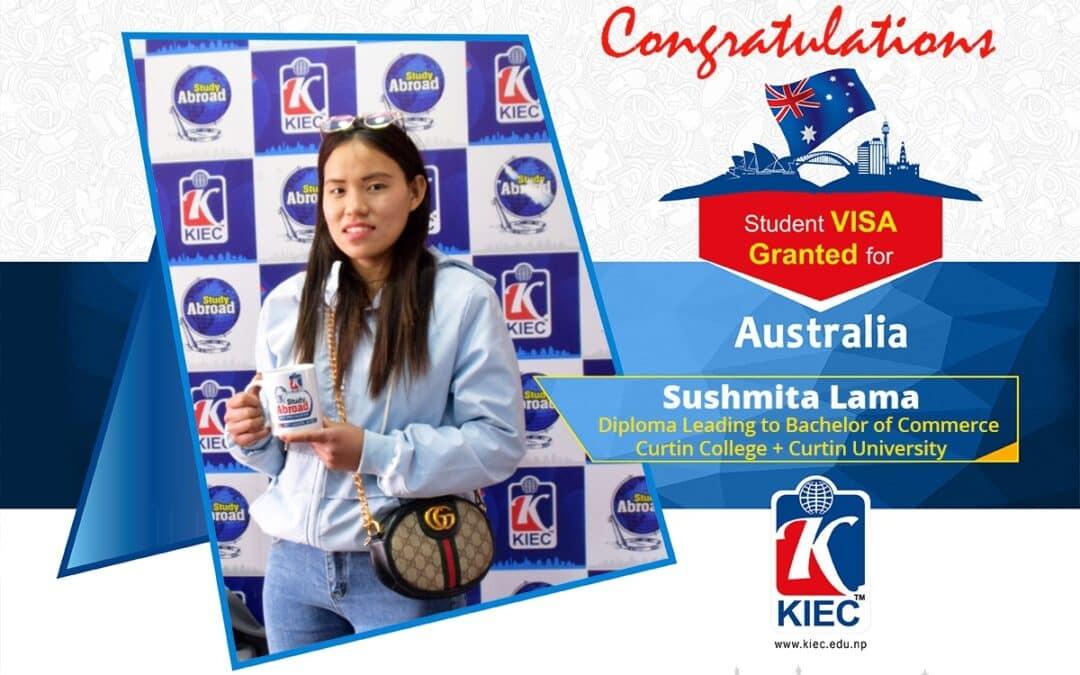 Sushmita Lama | Australia Study Visa Granted