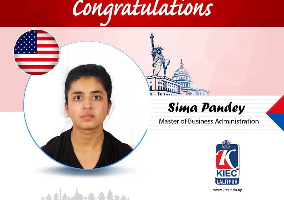 Sima Pandey | USA Study Visa Granted