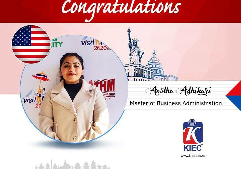 Aastha Adhikari | USA Study Visa Granted
