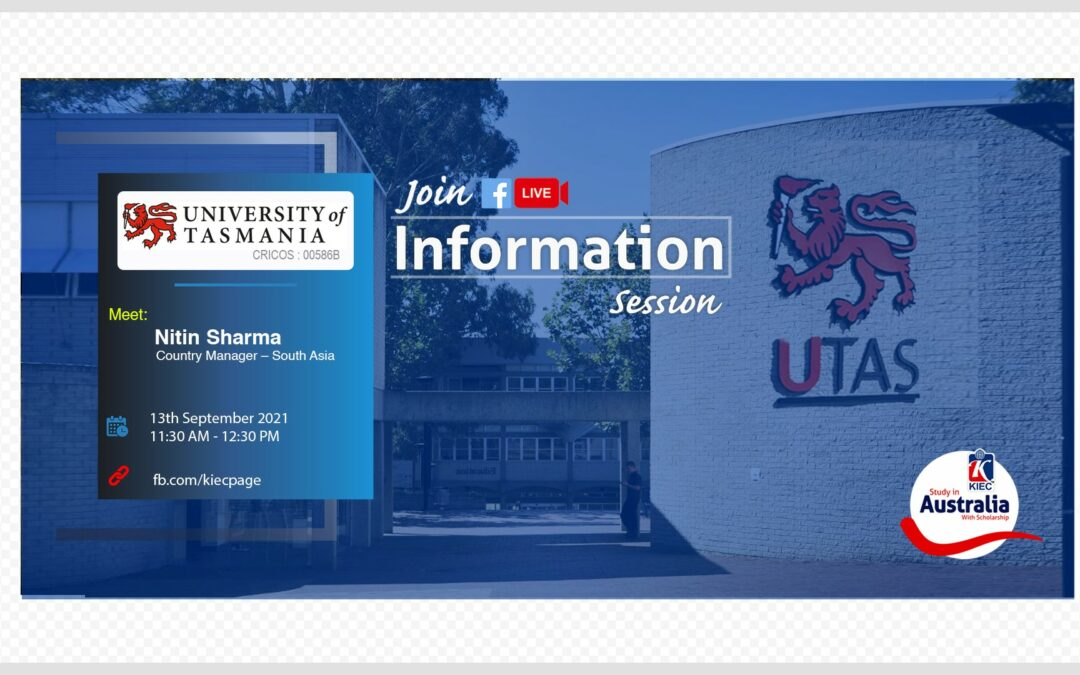 Join Facebook live session with UTAS, Australia