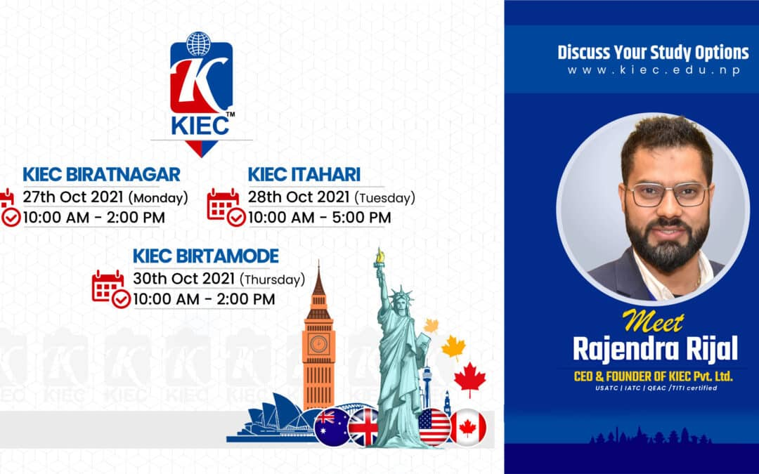 Why Study Abroad ? Join the session with Rajendra Rijal   Founder & CEO KIEC Pvt. Ltd.