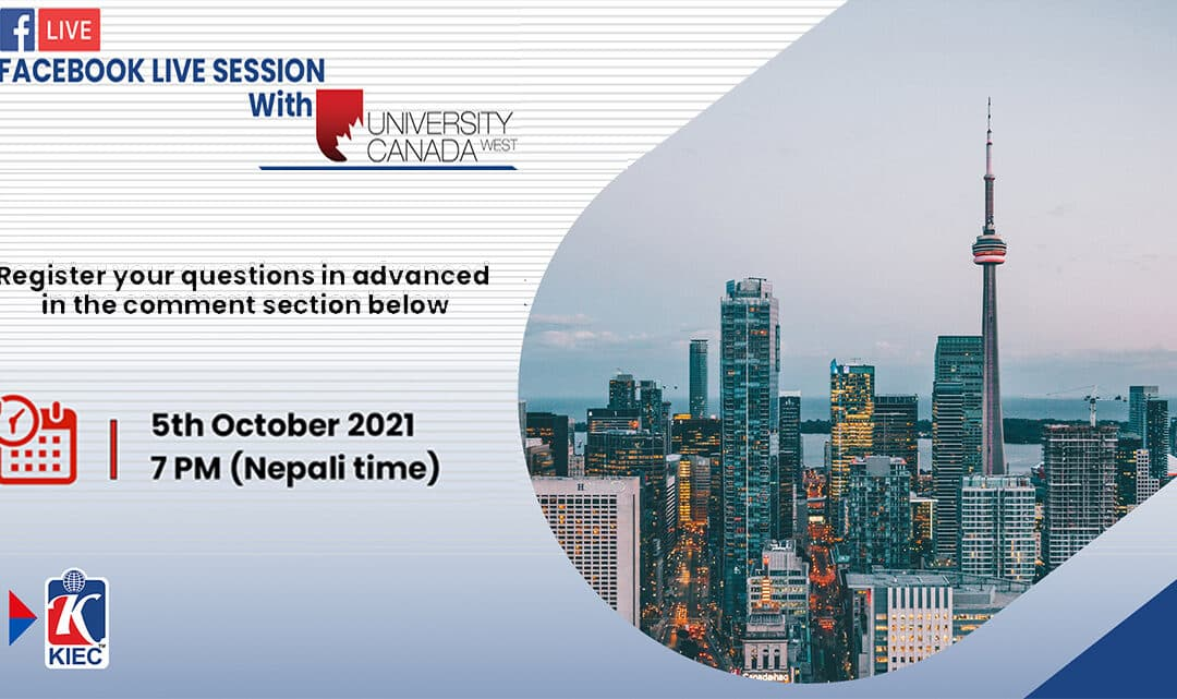 Join facebook live session with University of Canada West, Canada